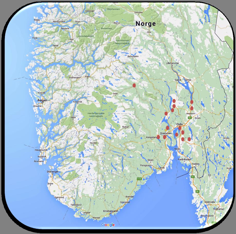 østlandet kart kart ostlandet – Villa Skaar østlandet kart