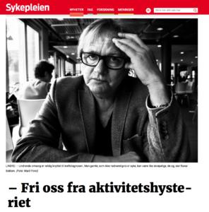 Faksimile: www.sykepleien.no